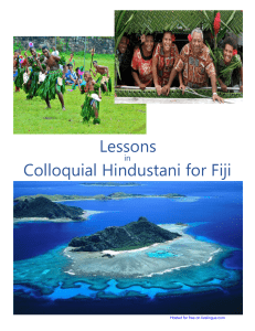 Lessons in Colloquial Hindustani for Fiji