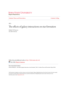 The effects of galaxy interactions on star formation