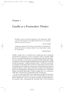 Gandhi as a Postmodern Thinker