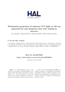 Polarization properties of coherent VUV light at 125