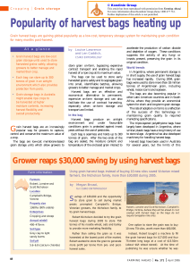Popularity of harvest bags heating up