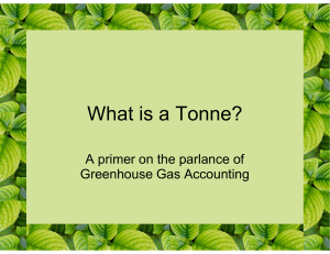 What is a Tonne? - CarbonSolutions