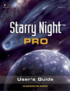 Starry Night Pro User`s Guide - Simulation Curriculum Support