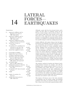 lateral forces— earthquakes