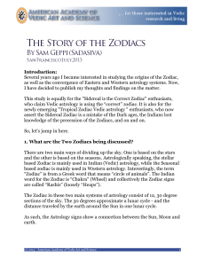 Story of the Zodiac