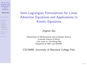 Semi-Lagrangian Formulations for Linear Advection