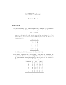 IMT3701 Cryptology