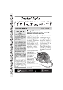 Tropical Topics - Wet Tropics Management Authority