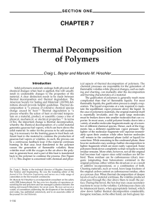Thermal Decomposition of Polymers - Marcelo Hirschler