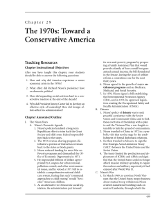 Chapter 29 The 1970s: Toward a Conservative America