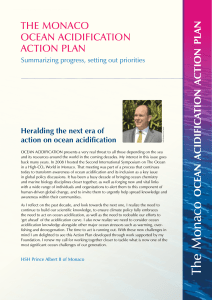 the monaco ocean acidification action plan