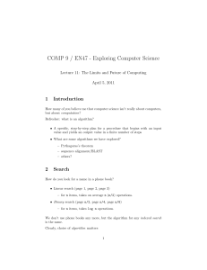 COMP 9 / EN47 - Exploring Computer Science