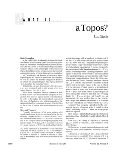 What Is...a Topos?, Volume 51, Number 9