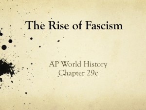 Rise of Fascism - Mat