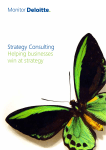 Strategy Consulting Helping businesses win at strategy