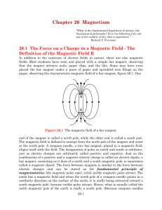 Chapter 26 Magnetism - Farmingdale State College