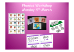 Phonics Workshop Monday 4th March