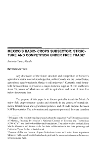 MEXICO`S BASIC- CROPS SUBSECTOR: STRUC