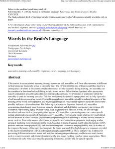 Words in the Brain`s Language