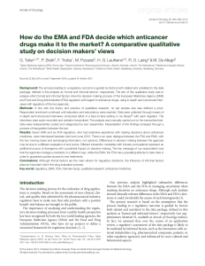 How do the EMA and FDA decide which anticancer drugs make it to