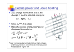 Electric power and Joule heating