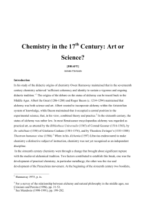 Chemistry in the 17th Century: practical art or academic discipline?