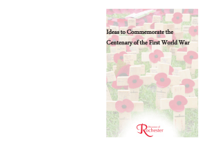 Ideas to commemorate the centenary of world war 1 for print 2 pages