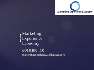 The brand as - Marketing Experience Economy