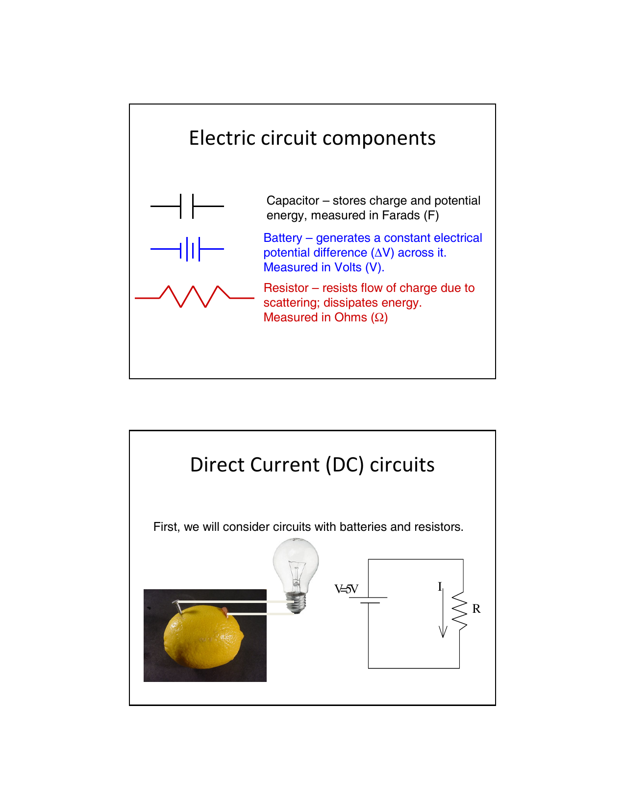 Electric Circuit Components Direct Current Dc Circuits Constant This Can Be Adjusted To