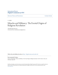 Miracles and Militancy: The Evental Origins of Religious Revolution