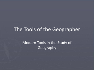 The Tools of the Geographer