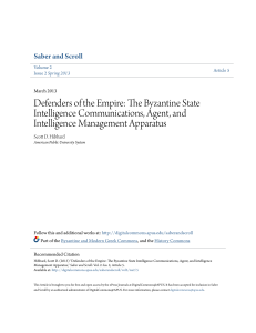 Defenders of the Empire: The Byzantine State Intelligence