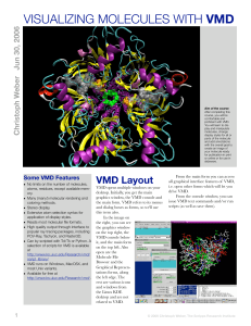 visualizing molecules with vmd - Molecular Modeling and Drug Design