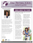 Spring Newsletter - Tina Theroux, DMD