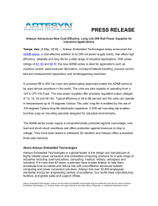 PDF Press Release - Artesyn Embedded Technologies