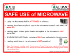 SAFE USE of MICROWAVE