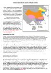 Historical Geography of NE China in the 20th Century