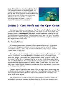 Lesson 5: Coral Reefs and the Open Ocean - Florida 4-H