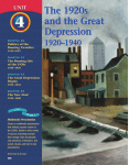 The 1920s and the Great Depression The 1920s and the Great