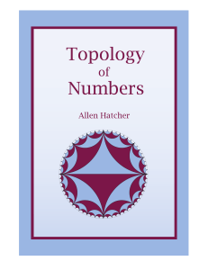 Topology of numbers