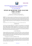 study of response time analysis for can bus