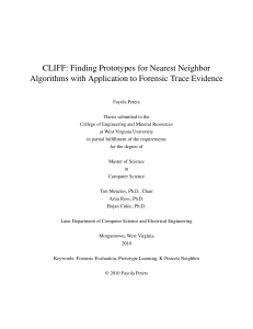 CLIFF: Finding Prototypes for Nearest Neighbor