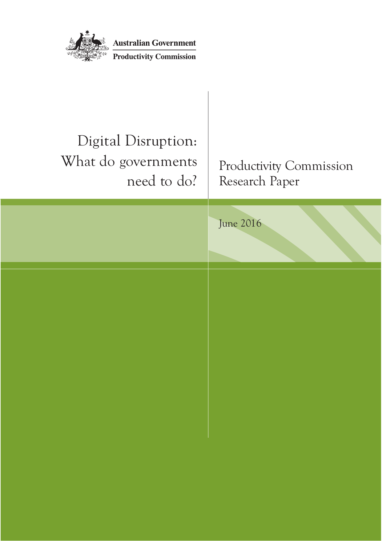 Digital Disruption: What do governments need to do?