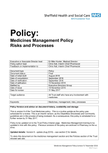 Medicines-Management.. - Sheffield Health and Social Care NHS