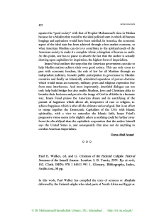 Paul E. Walker, ed. and tr. Orations of the Fatimid Caliphs: Festival