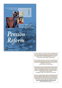 Pension Reform: Issues and Prospects for Non-Financial