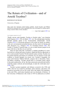 The Return of Civilization—and of Arnold Toynbee?