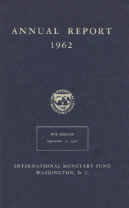International Monetary Fund Annual Report 1962