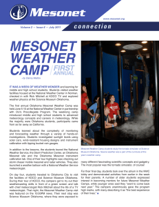 MESONET WEATHER CAMP