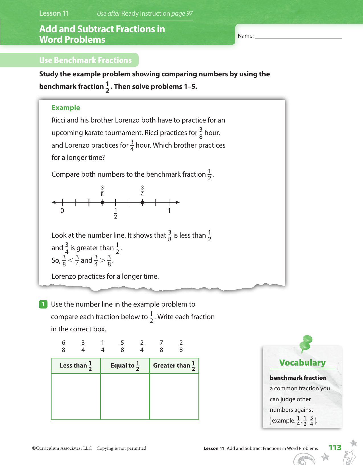 Adding And Subtracting Fractions Word Problems Pdf